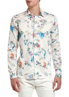Etro Men's Floral Vine Long-Sleeve Sport Shirt