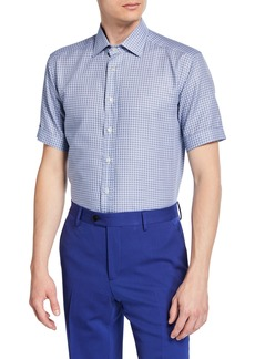 Etro Men's Geo Printed Short-Sleeve Sport Shirt