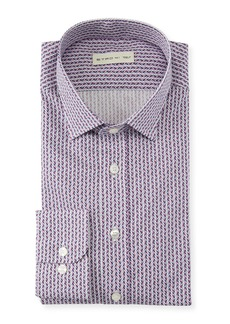 Etro Men's Geometric Diamond Dress Shirt