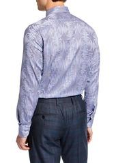 Etro Men's Geometric Jacquard Sport Shirt