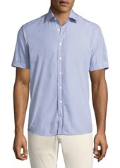 Etro Men's Geometric Print Button-Down Shirt