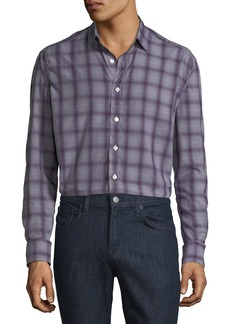 Etro Men's Lyocell Plaid Sport Shirt