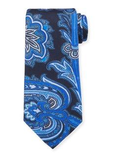 Etro Men's Macro Paisley  Silk Tie