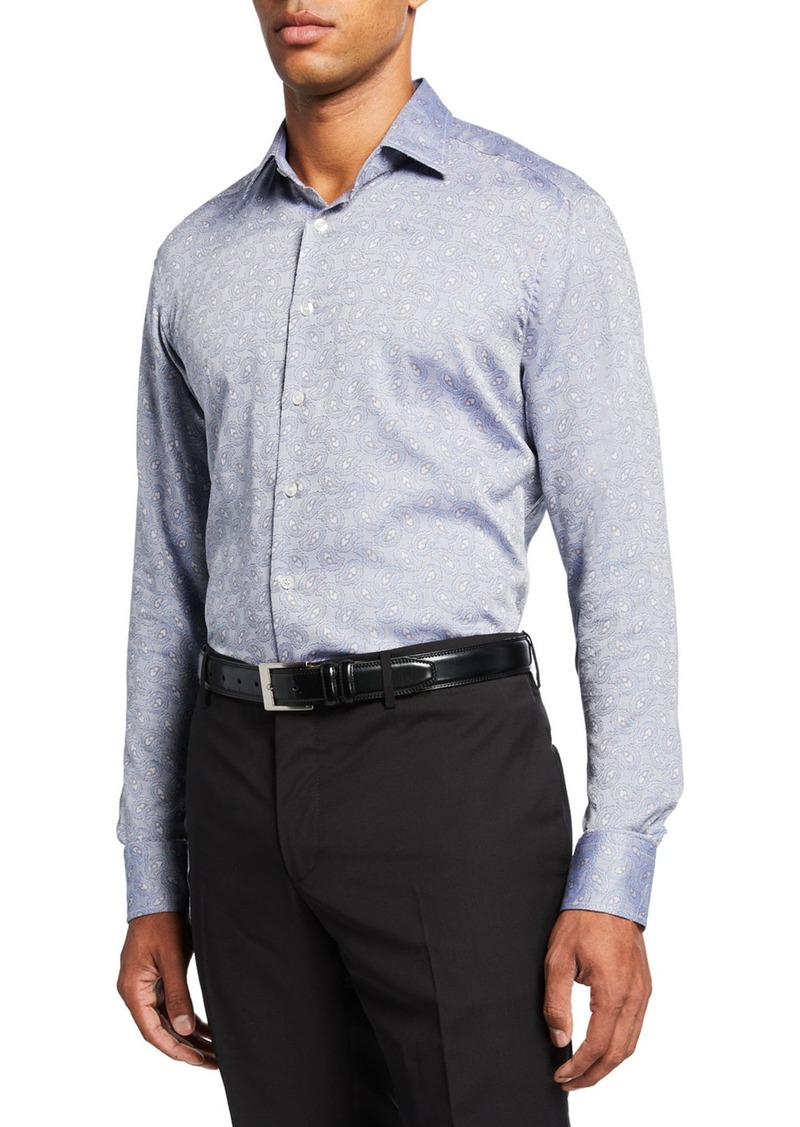 Etro Men's Paisley Gem Jacquard Sport Shirt