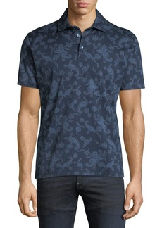 Etro Men's Paisley-Print Polo Shirt