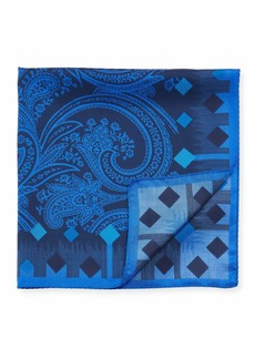 Etro Men's Paisley Silk Pocket Square