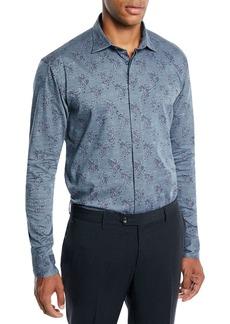 Etro Men's Paisley Woven Sport Shirt