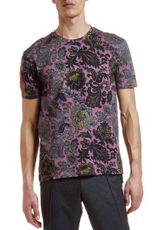 Etro Men's Placed Paisley Graphic T-Shirt
