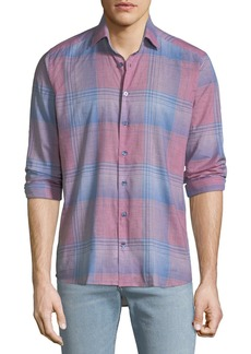 Etro Men's Plaid Sport Shirt