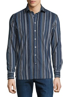 Etro Men's Striped Cotton Sport Shirt
