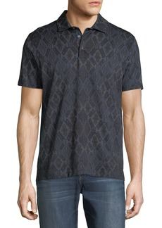 Etro Men's Tapestry-Print Cotton Polo Shirt