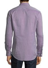 Etro Men's Textured Cotton Sport Shirt