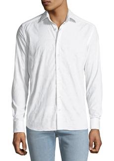 Etro Men's Tonal Paisley Woven Sport Shirt  White