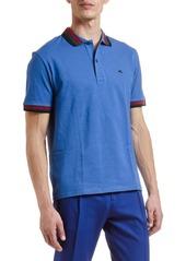 Etro Men's Tri-Stripe Trim Polo Shirt