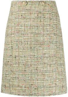 Etro metallic-effect tweed skirt