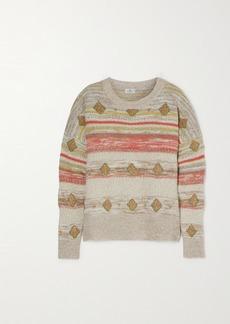 Etro Metallic Intarsia Wool-blend Sweater