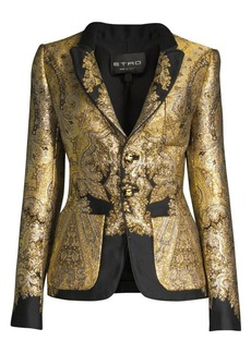 Etro Metallic Paisley Jacquard Blazer