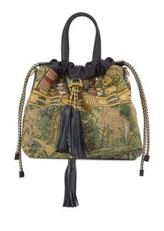 Etro Metallic Tapestry Medium Top-Handle Bag