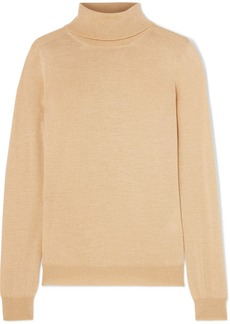 Etro Metallic Wool-blend Turtleneck Sweater