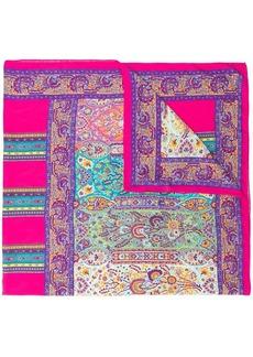 Etro micro floral print scarf
