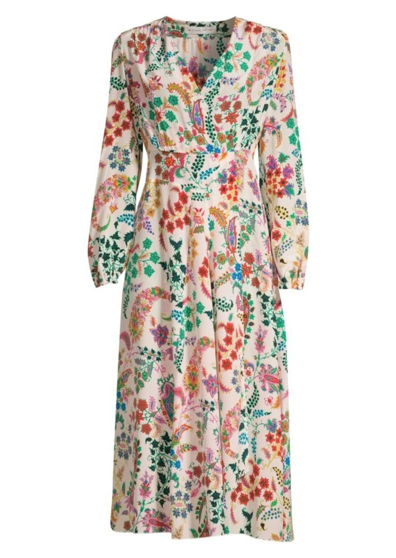 Etro Micro Floral Silk Wrap Dress