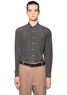 Etro Micro Paisley Silk Blend Shirting Shirt