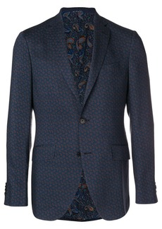 Etro micro-paisley single breasted blazer