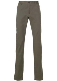Etro micro pattern straight-leg trousers