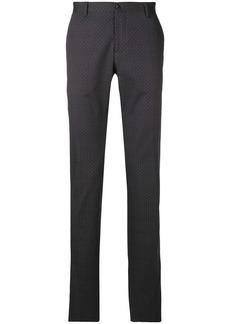 Etro micro print trousers