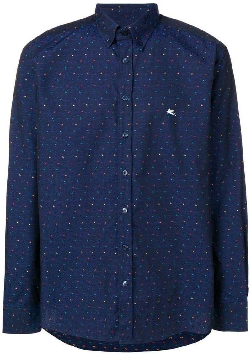 Etro micro triangle print shirt