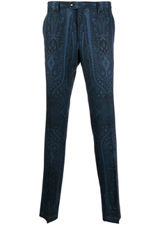 Etro mid-rise paisley-print trousers
