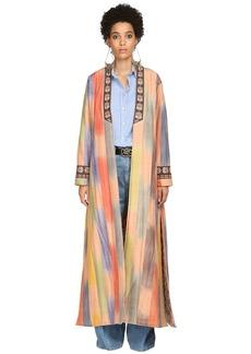 Etro Mikado Quilted Silk Coat