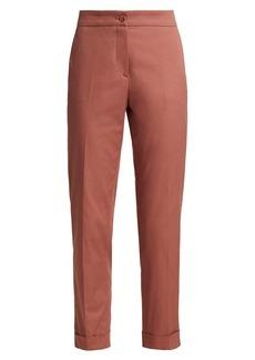Etro Milano Cuffed Stretch Poplin Pants