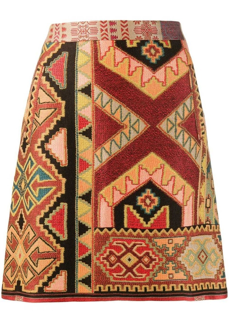 Etro mini jacquard skirt