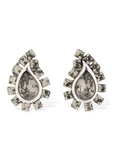Etro Mini Paisley Crystal Clip-on Earrings
