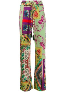 Etro mix-print drawstring trousers