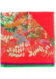 Etro mixed floral print scarf