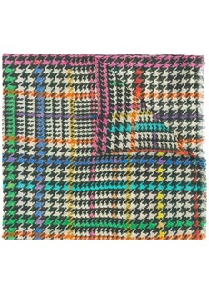 Etro mixed houndstooth scarf