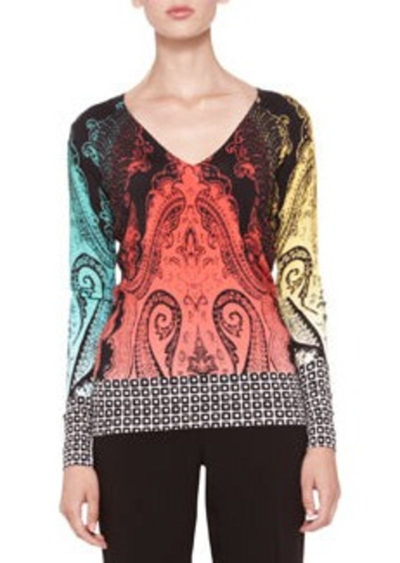 Etro Mixed-Pattern Knit Top   Mixed-Pattern Knit Top