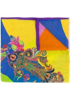 Etro mixed print striped scarf