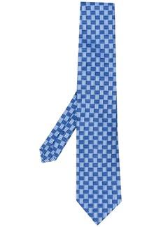 Etro monogram jacquard silk tie