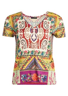 Etro Mosaic Tile-Print Cotton Tee