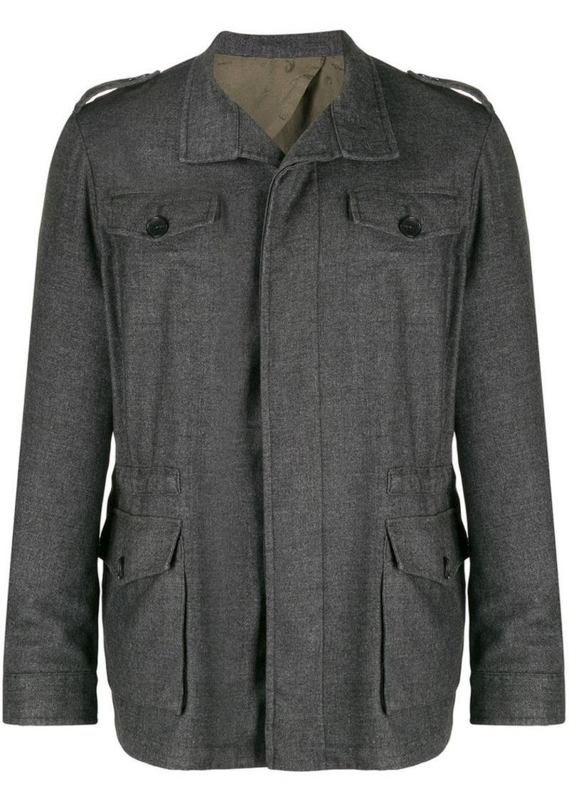 Etro multi pocket shirt jacket