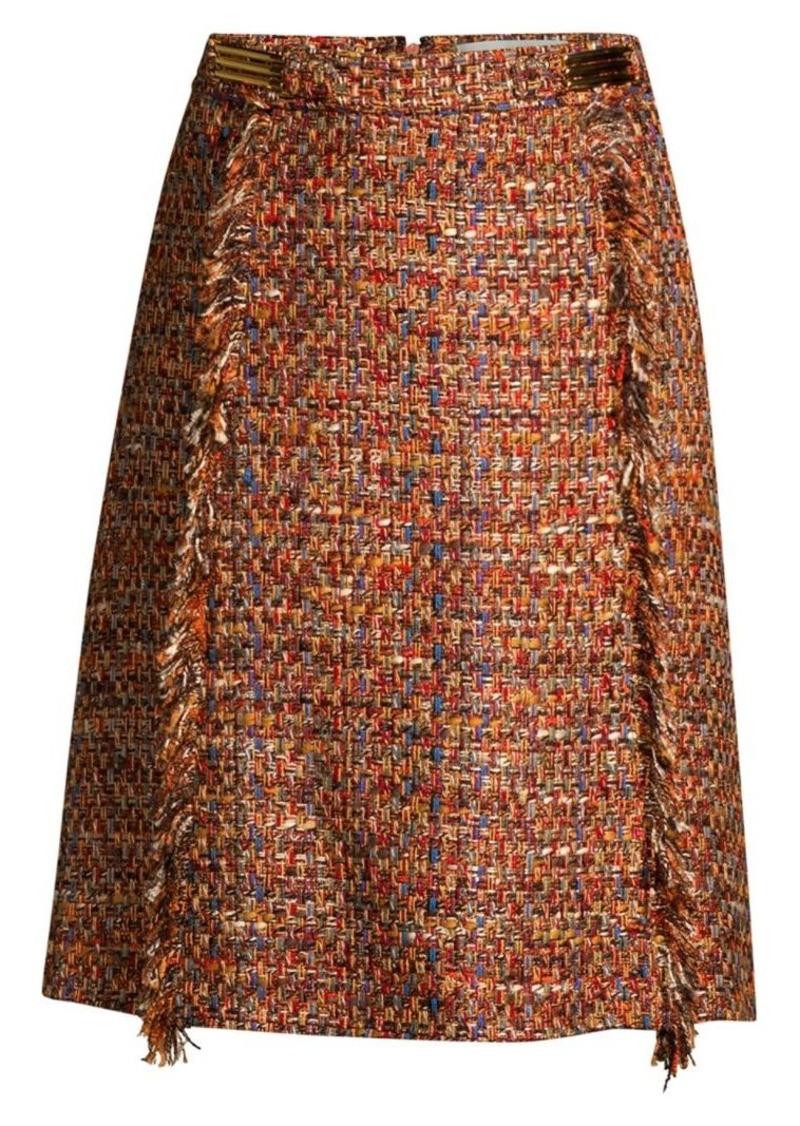 Etro Multi-Tweed Midi Skirt