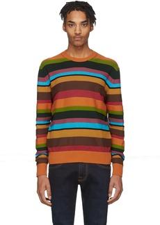 Etro Multicolor Stripe Crewneck Sweater