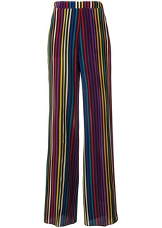 Etro multicolour stripe print trousers