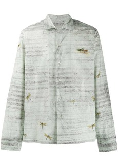 Etro music sheet print shirt