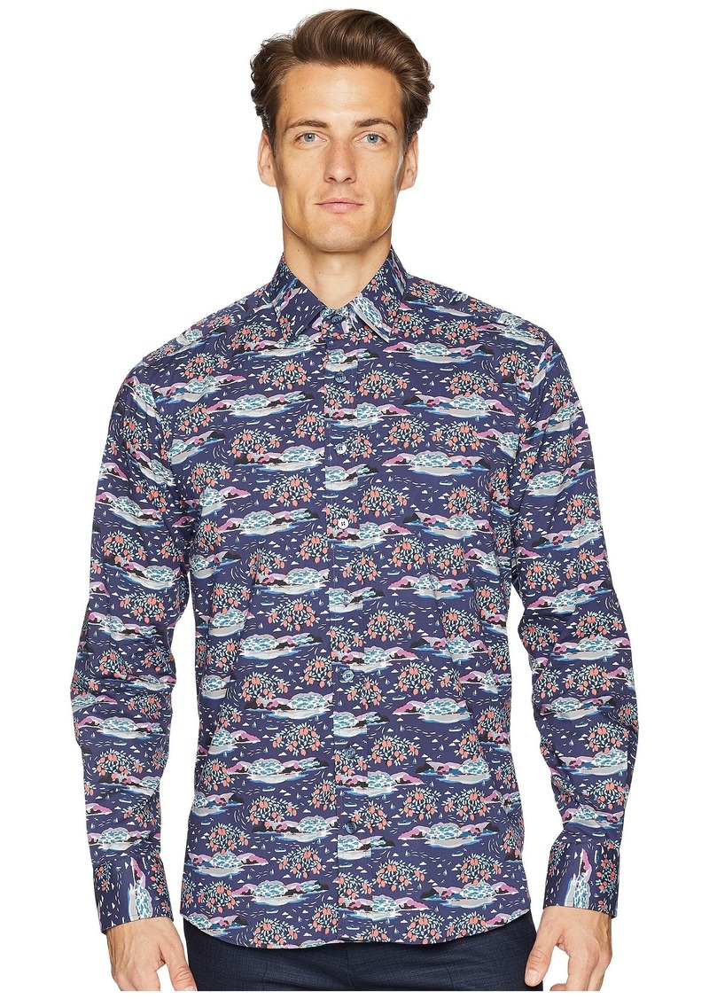 Etro New Warrant Mountainscape Shirt
