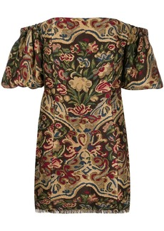 Etro off-shoulder mini dress