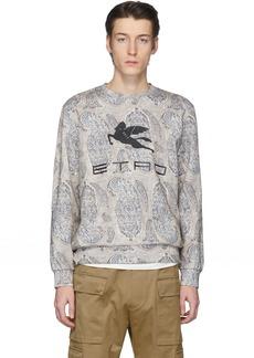 Etro Off-White Neutra Paisley Pegaso Sweatshirt